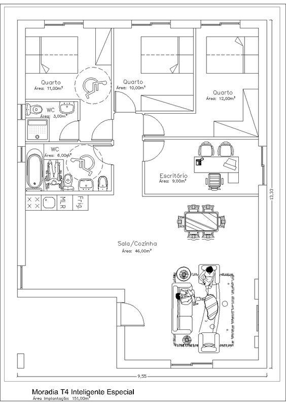 planta casa t4