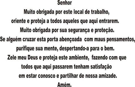 ORAÇÃO DO TRABALHO - ADESIVO | PEDACINHO DE GENTE - By Sikelly | Elo7