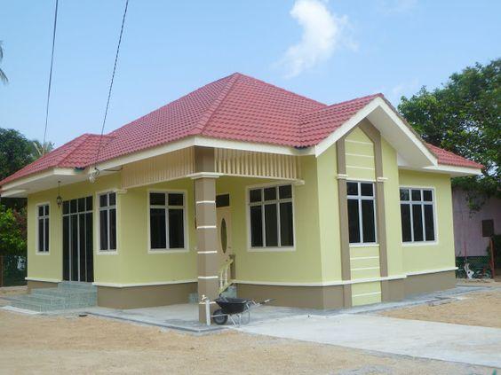 54 Desain Rumah Sederhana Di Kampung Yang Terlihat Cantik Dan Mewah Outdoor Structures Design Home
