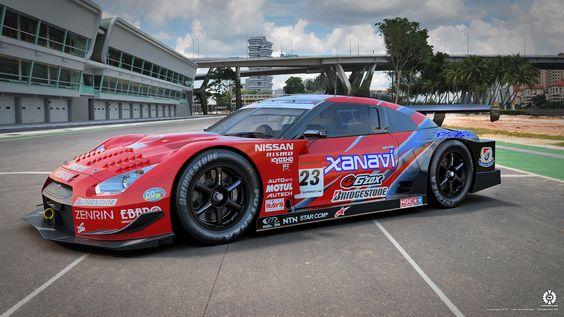 Xanavi Nissan GT-R Super GT 02 by dangeruss.deviantart.com on @deviantART