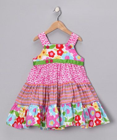 Take a look at this Pink & Blue Ruffle Sundress - Toddler & Girls by Swanky Baby Vintage & Smartie Britches on #zulily today!