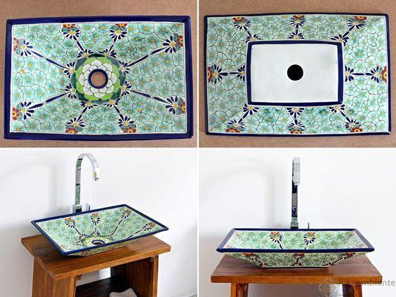 Pasion   rechteckiges design waschbecken mex 6 aus mexiko ...