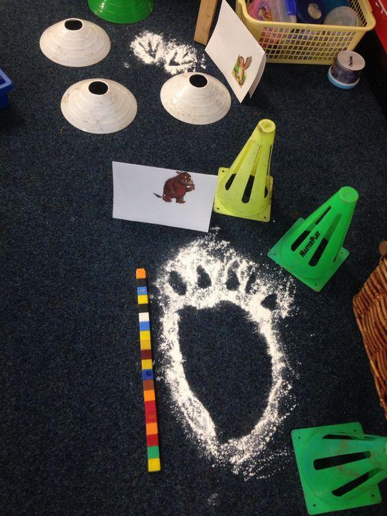 When the Gruffalo & friends came to school! - footprints, numeracy, measurement, non-standard measure, creative, maths, EYFS, Gruffalo