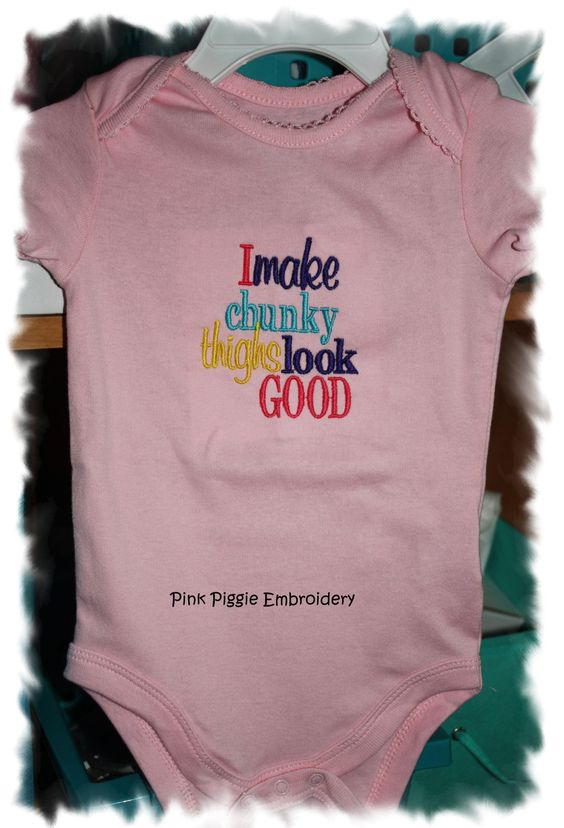 Set of 2 Baby Onesies with Embroidered Sayings. $28.00, via Etsy.