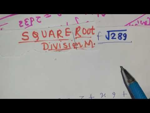 Square Root By Division Method Square Root Of 289 Maths In Hindi Youtube Square Roots Math Root If no factor less than or equal to the square root is found, it follows that the number under investigation is prime. division method square root of