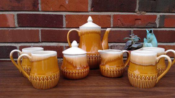 Mid Century Tea Set Coffee Set Made In by MattersvilleVINTAGE, $30.00