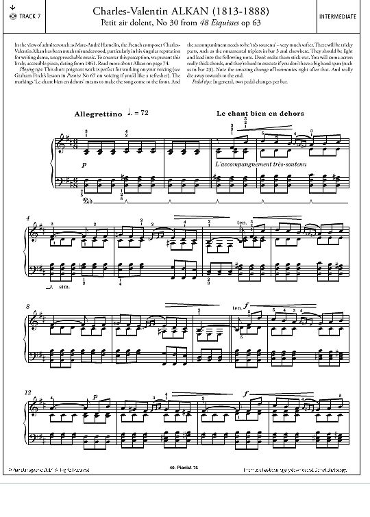 Petit air dolent, No.30 (from 'Esquisses Op.63') >>> KLICK auf die Noten um Reinzuhören <<<