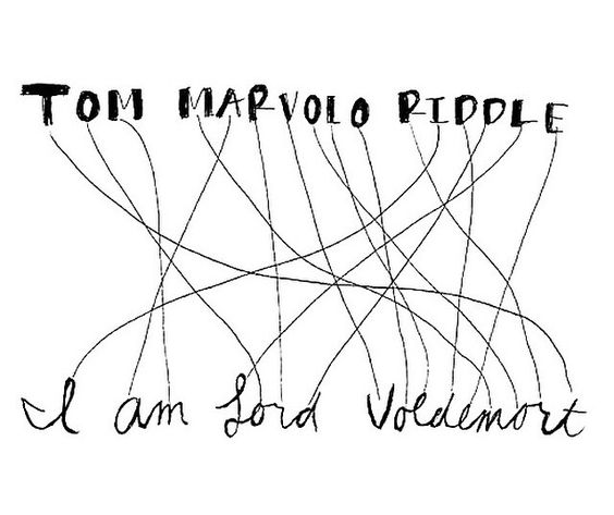admit it everyone rearranged those letters to find out if it worked when tom riddle told harry he was voldemort