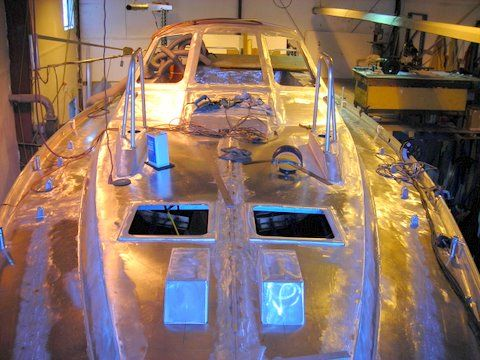 Dudley Dix design custom aluminum sailboat, boatbuilding British Columbia, Gibsons, BC,  aluminum sailboat building, Dearden Marine aluminum boat fabricators