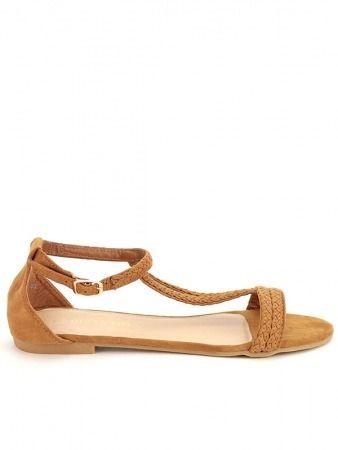 Sandale QUEEN VIVI CAMEL, Semelle intérieure Confort - Cendriyon.com