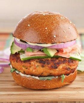 California Roll' Salmon Burgers | Recipe | Burgers, Salmon burgers ...