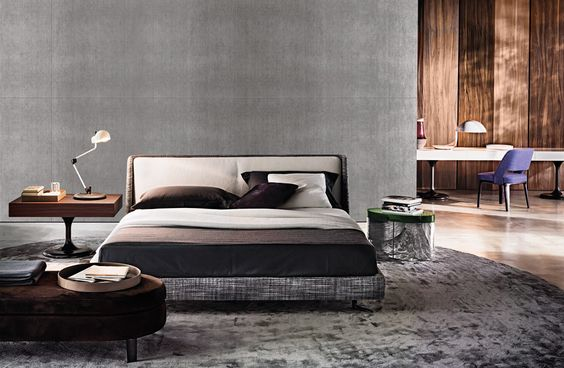 Double beds: Bed Spencer by Minotti