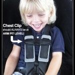 This is the correct place for the car seat chest clip thanks to @BabyGizmo,Child Passenger Safety Week Day 2 - Chest Clip Location (GIVEAWAY)