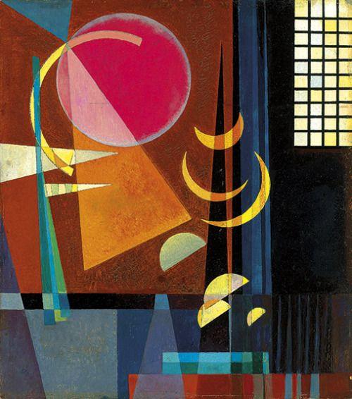 ein-bleistift-und-radiergummi:Wassily Kandinsky 'Scharf-Ruhig', 1927.