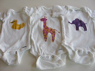 Baby Shower Activity - Decorating Onesies with Freezer Paper Stencils.  FUN. draw something has prepared you for this!