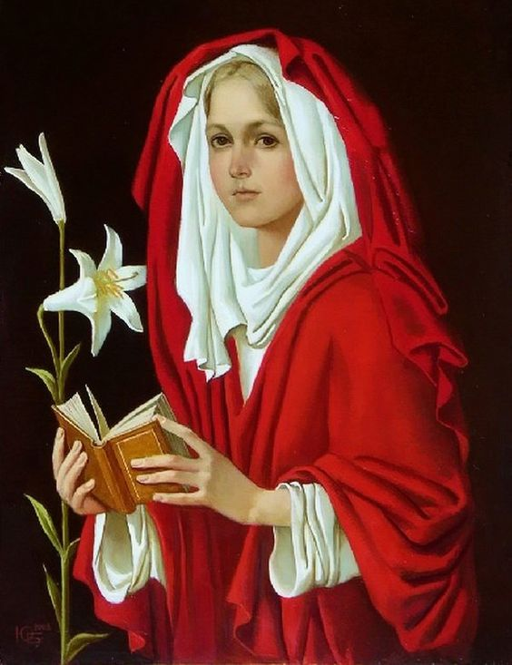Julia Bekhova (b. 1964) — The Annunciation (600×780):