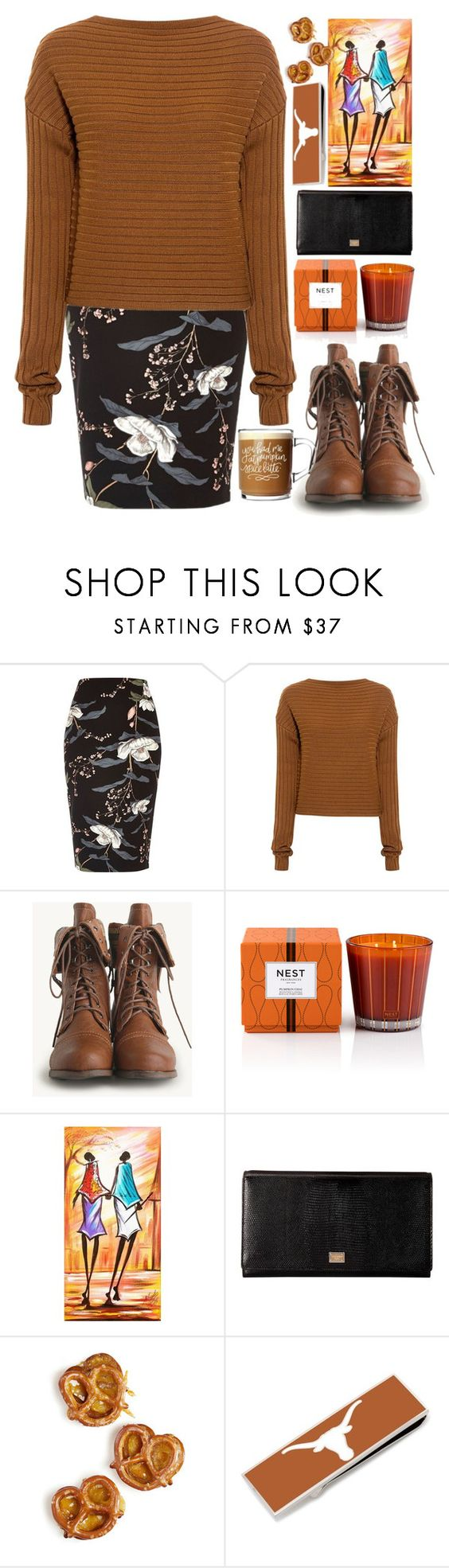 """Autumn flowers"" by erohina-d ❤ liked on Polyvore featuring River Island, TIBI, Nest Fragrances, NOVICA, Dolce&Gabbana and Cufflinks, Inc."