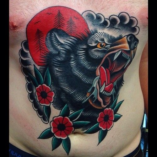 Black bear tattoo  Steve Wood - Auckland