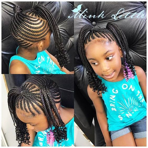 Toddler Braided Hairstyles With Beads New Natural Hairstyles Kid Braid Styles Braids For Kids Hair Styles