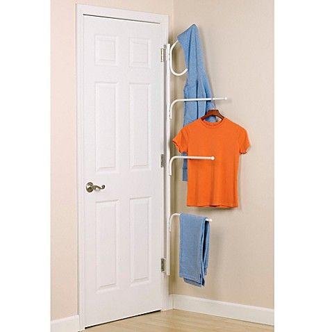 Household Essentials Clutterbuster Valet Hanger And Towel Bar Diy Clothes Hanger Storage Clothes Hanger Storage Hanger Storage