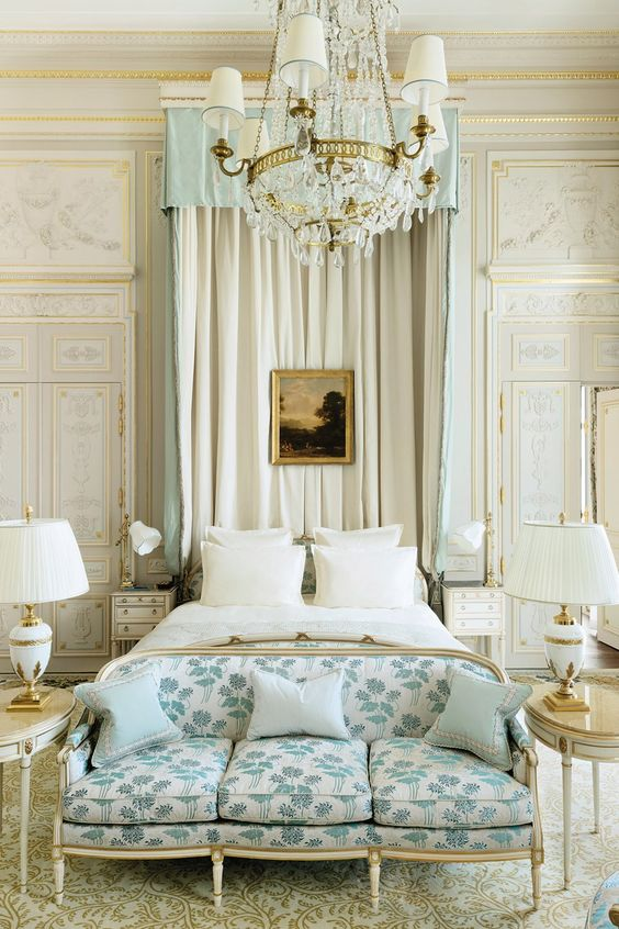 The Windsor Suite at the Ritz Paris. #bluegreen #lightgreen #ritzparis