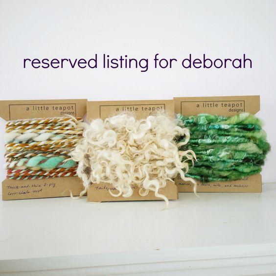 Art Yarn Tasting Flight - Reserved Listing by alittleteapotdesigns on Etsy