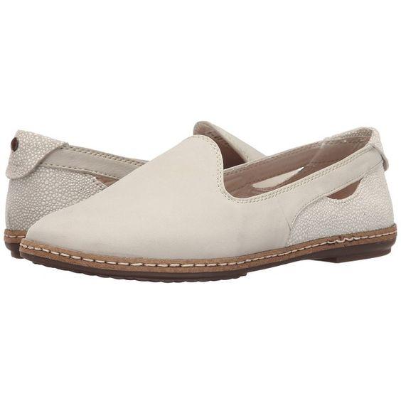 Hush Puppies Sebeka Piper (Off-White Nubuck) Women's Slip on Shoes ($99