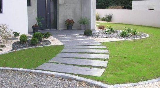 Amenager L Entree Exterieure D Une Maison Avec Images Idee Deco Exterieur Amenagement Jardin Devant Maison Entree De Maison Exterieur