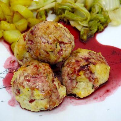 Cozinhar sem Lactose: Almôndegas de peru com molho de amoras