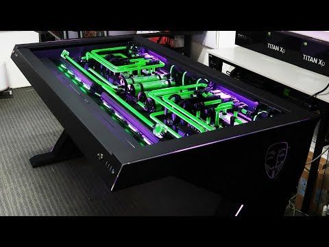 Custom Pc Build 38 Erebus The Ultimate Epic Extreme Desk Pc Of 2018 Youtube Custom Pc Desk Pc Desk Custom Pc