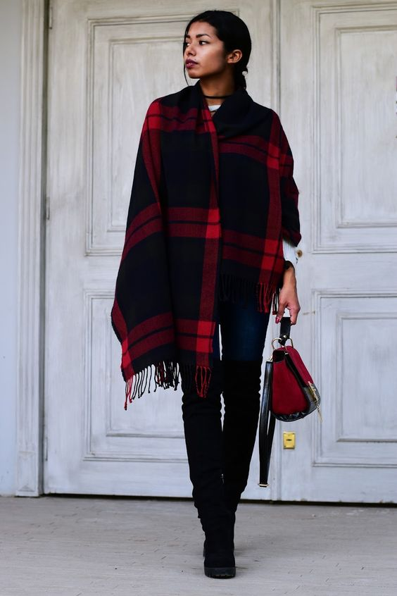 New #ootd | Plaid blanket scarfs and ankle boots are one of my top 3 favorite Autumn combinations