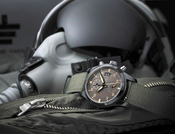 IWC Top Gun Miramar Chronograph  Swiss watchmaker IWC is introducing a new military-style chronograph with San Diego roots. Named for the Miramar air base and the Tom Cruise flick filmed right up the road from werd.com headquarters, this watch is as tough as our local leathernecks. Its ceramic case, titanium case back, and a whopping 168-hour power reserve make it battle proof.