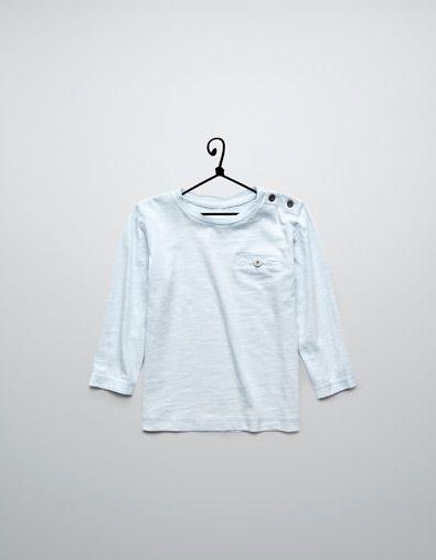 t-shirt with pocket - T-shirts - Baby boy (3-36 months) - Kids - ZARA