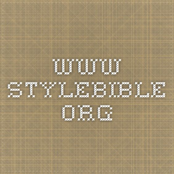 www.stylebible.org