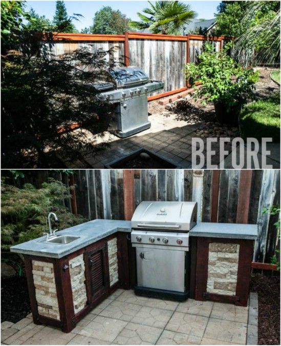 15 Amazing Diy Outdoor Kitchen Plans You Can Build On A Budget Outdoor Kitchen Plans Diy Outdoor Kitchen Outdoor Kitchen Design