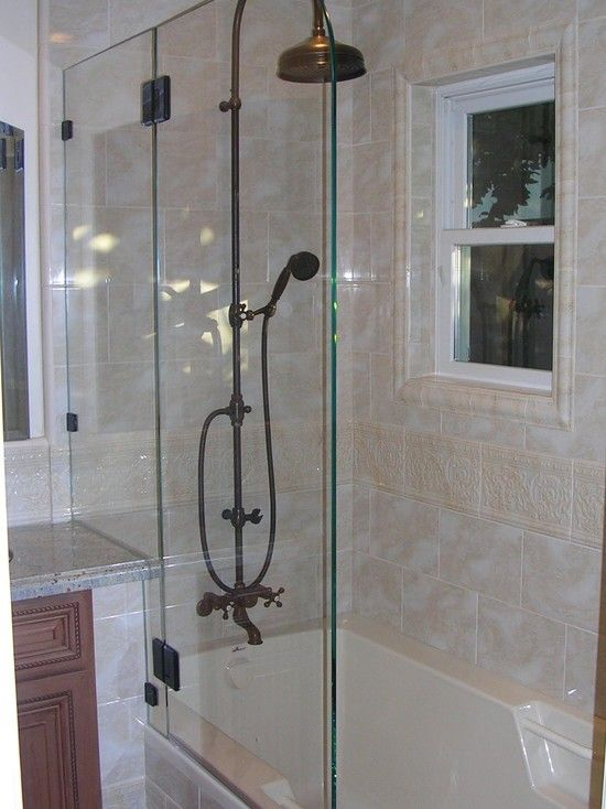 Tub shower combo traditional bathroom and tubs on pinterest for Bathroom accessories combo