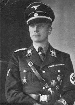 GERMAN NAZI OFFICER, WAFFEN SS ALLGEMIENE HALLOWEEN COSTUME