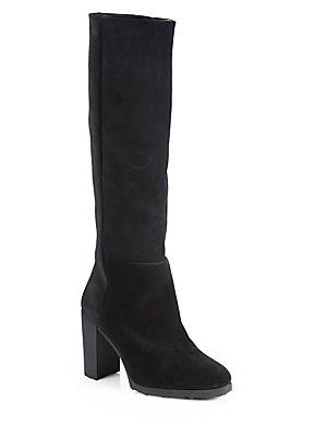 Pierre Hardy Suede Knee-High Boots
