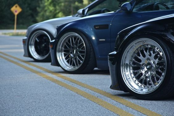 M3's lowered with deep dish
