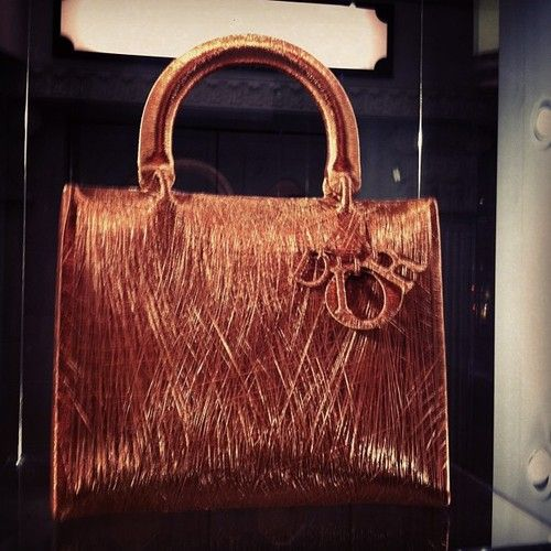 Amazing Dior bag made from copper wire