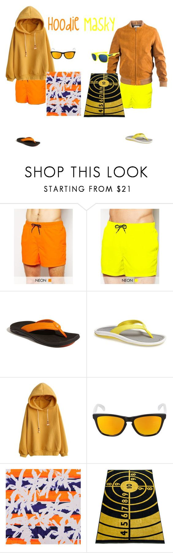 """""""Beach day Hoodie and Masky"""" by hoodie-326 on Polyvore featuring ASOS, OluKai, Oakley, Kenzo, A.P.C., women's clothing, women's fashion, women, female and woman"""