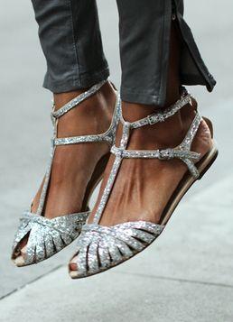 Zapatos de mujer - Womens Shoes - glitter flats!
