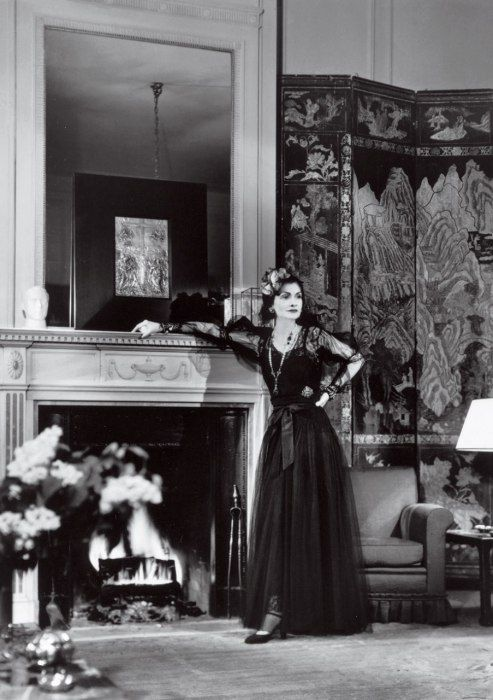 Coco Chanel in her apartment at the Ritz, 1937