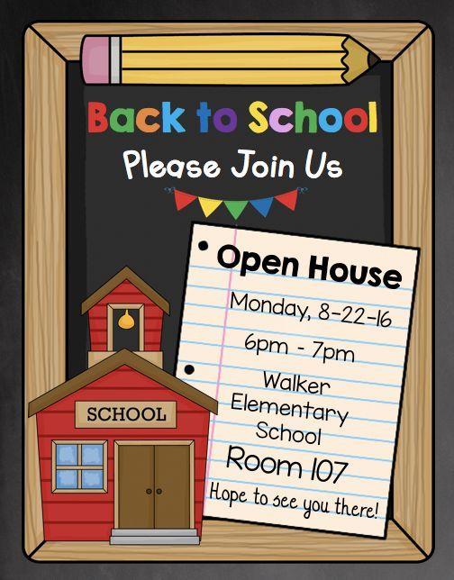 Open House Invitation Editable Back To School Meet The Teacher Open House Invitation School Open House School Invitation