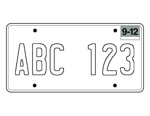 This is a graphic of Printable License Plate Template for bumper sticker