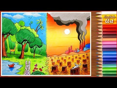 Save Environment Save Nature Drawing Poster Chart For School Students Very Easy Step By Step Youtube In 2020 With Images Save Water Poster Drawing Nature Drawing Drawings