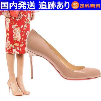 14春☆Fifi 85mm ヌードカラー パテント☆クリスチャンルブタン