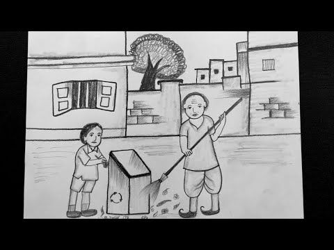 Clean India Drawing Drawing On Swachh Bharat Swachh Bharat Drawing Pencil Drawing Youtube Pencil Drawings Drawings Easy Drawings