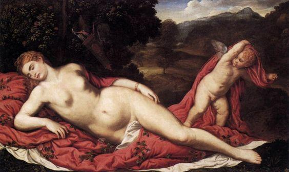 Venus durmiendo con Cupido (Venere dormiente con Cupido), Paris Bordone