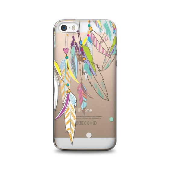 OTM iPhone 5 Clear Case Hipster Collection, Color Dream Catcher